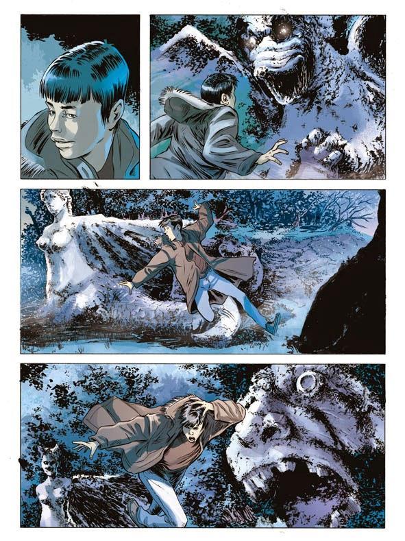 Nué si inoltra nel parco di Bomarzo in una delle sequenze più belle di Orfani: Ringo 2