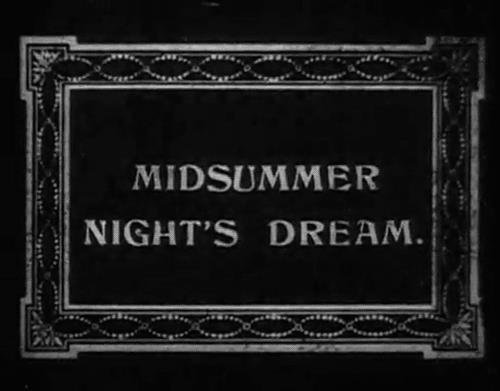 Cartello Sogno di una notte di mezza estate