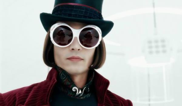 Johnny Depp in La fabbrica di cioccolato interpreta Willy Wonka