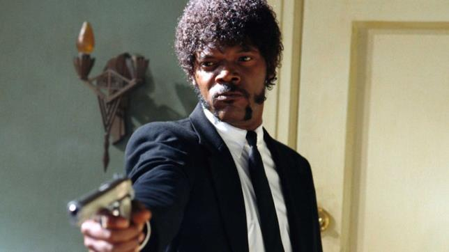 Jules Winnfield in una scena di Pulp Fiction
