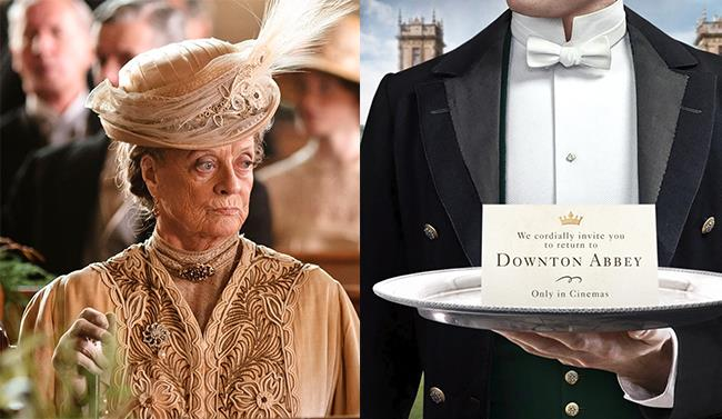 Maggie Smith in Downton Abbey e l'annuncio del film