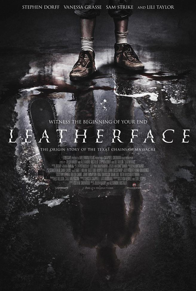 Il poster ufficiale del film Leatherface