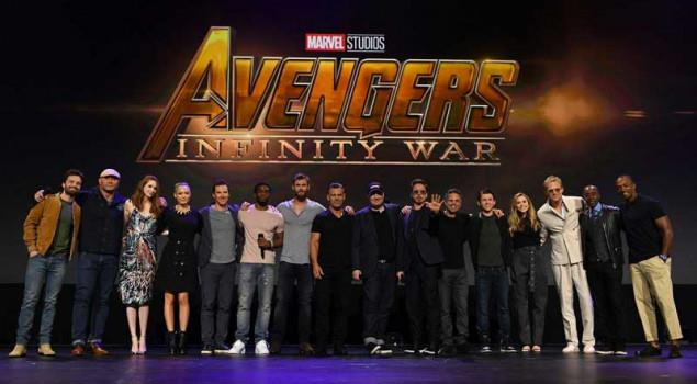Il cast di Avengers: Infinity War al gran completo
