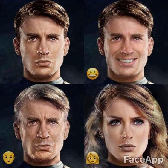 Le quattro trasformazioni facciali di Tom Hiddleston con Chris Evans