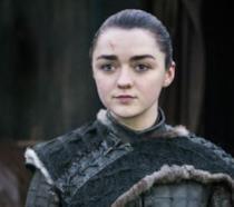 Maisie Williams è Arya Stark nell'episodio 8x06, The Iron Throne