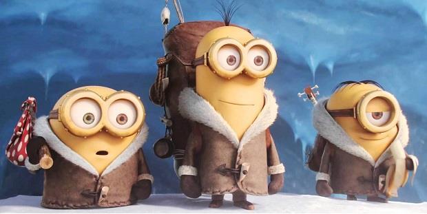 Bob, Kevin e Stuart insieme nella neve