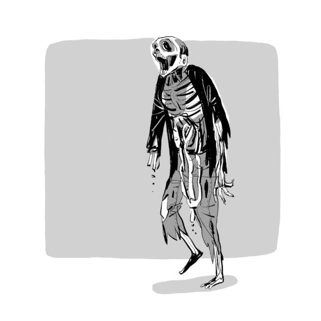 Uno zombie di The Walking Dead secondo Daniel Cuello