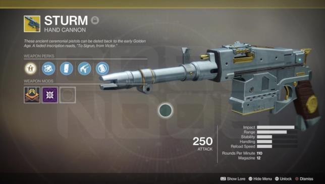 Come ottenere Sturm in Destiny 2