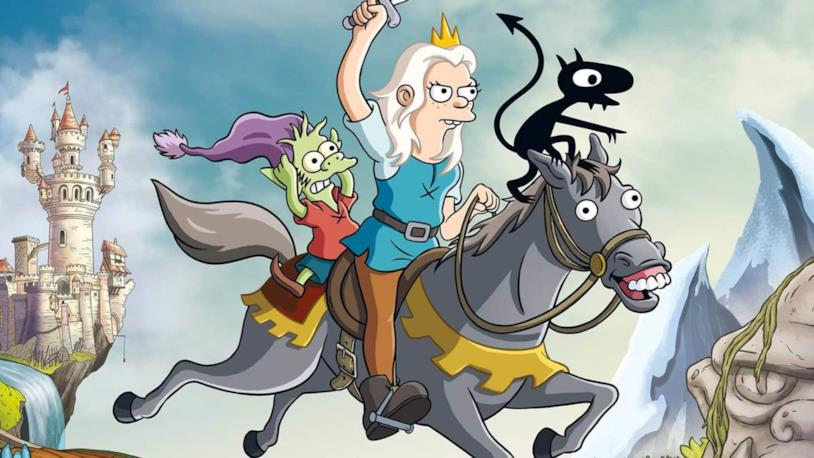 I protagonisti di Disincanto, serie creata da Matt Groening