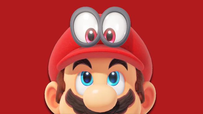 Mario e il suo buffo cappello in un artwork di Super Mario Odyssey