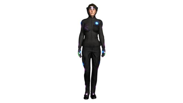 Dettagli della tuta per realtà virtuale HoloSuit