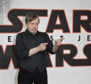 Mark Hamill al photocall di Star Wars 8