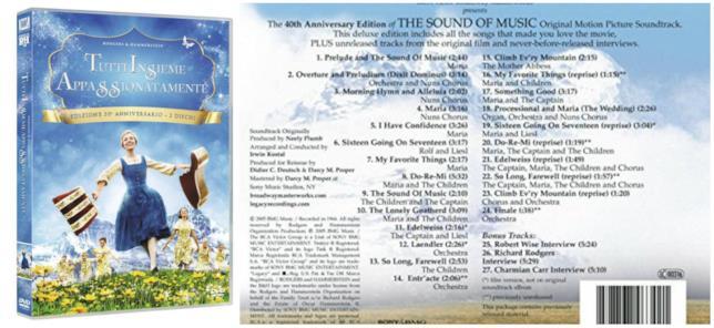 La colonna sonora il DVD di Tutti insieme appassionatamente