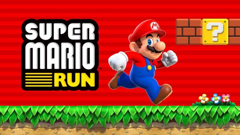 L'idraulico Mario in azione sulla cover ufficiale di Super Mario Run