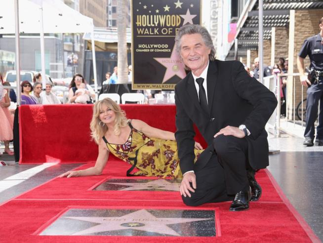 Goldie Hawn e Kurt Russell sulla Walk of Fame