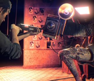 In foto Sebastian contro una nuova creature di The Evil Within 2