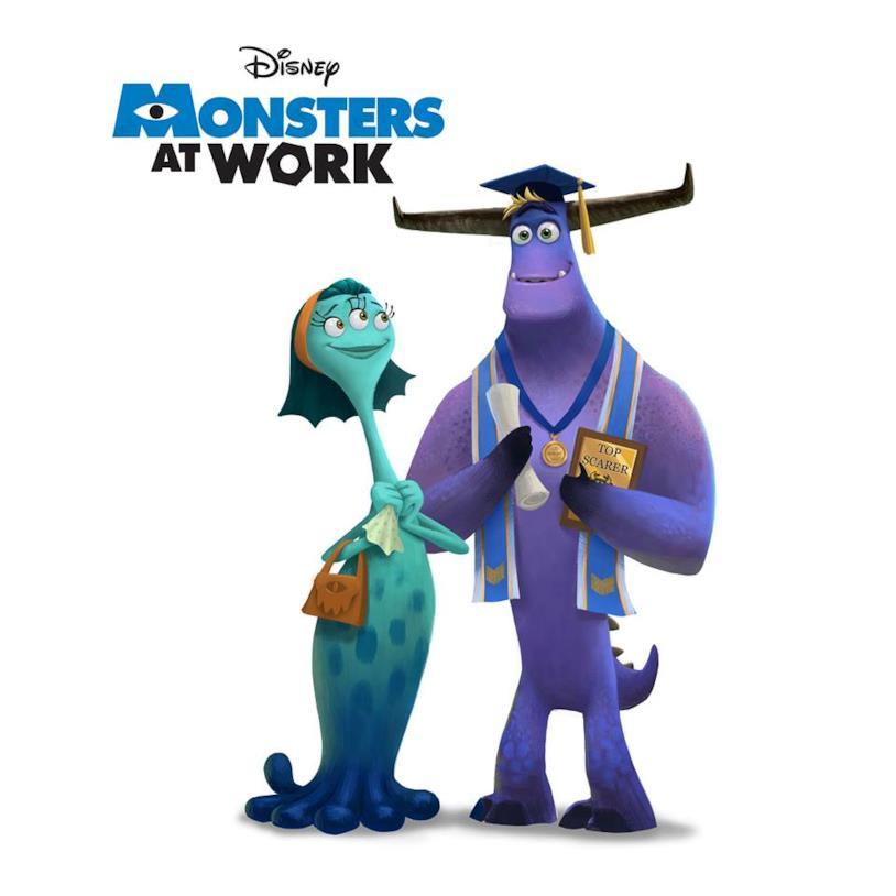 Il poster di Monster at Work mostrato al D23 Expo 2019