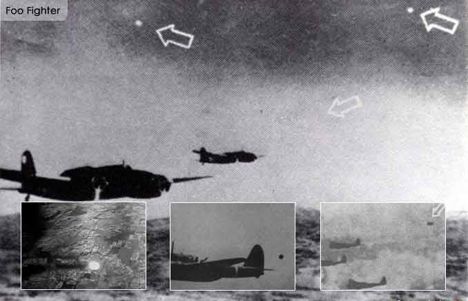 Avvistamenti di UFO definiti Foo Fighers durante la Seconda Guerra Mondiale
