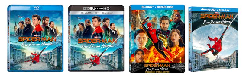 Le edizioni Blu-ray e 4K Ultra HD di Spider-Man: Far From Home