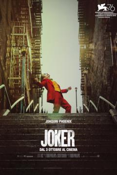 Il Joker nella locandina per la Mostra del Cinema di Venezia