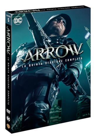 Il cofanetto DVD della quinta stagione di Arrow