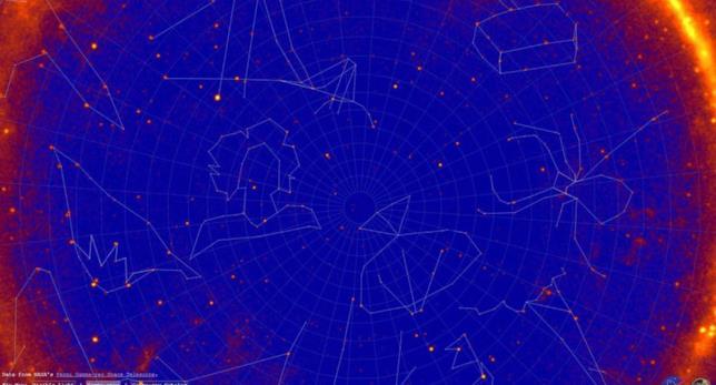 Interfaccia del sito interattivo per osservare le nuove costellazioni di raggi gamma