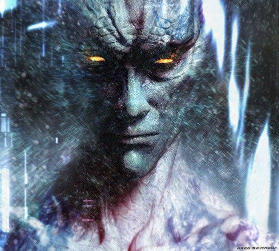 Zordon nel reboot di Power Rangers (vecchia concept art)