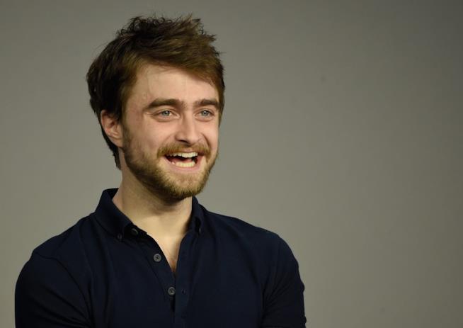 Daniel Radcliffe sorridente a un evento Apple