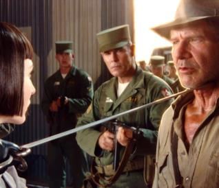 Indiana Jones in una scena dal film Indiana Jones e il Regno del Teschio di Cristallo