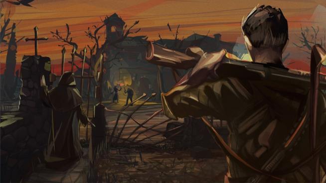 Un'illustrazione ufficiale di Sine Requie: Snake Eyes