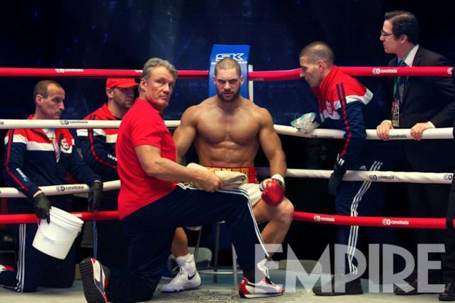 Dolph Lundgren e Florian Munteanu sul set di Creed II