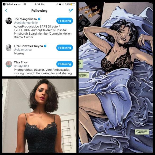 Eiza González e il nuovo taglio di capelli come Selina dei fumetti