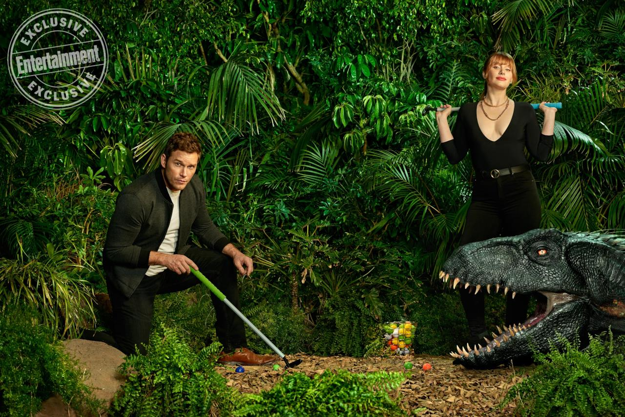 Chris Pratt e Bryce Dallas Howard nelle foto di EW