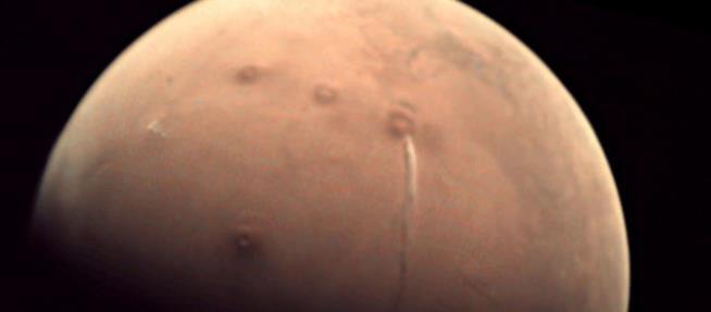 La nube di ghiaccio marziana ripresa dal satellite Mars Express
