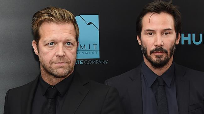 Il regista David Leitch e Keanu Reeves