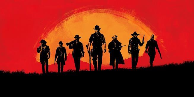 I protagonisti di Red Dead Redemption 2 sulla cover ufficiale del gioco