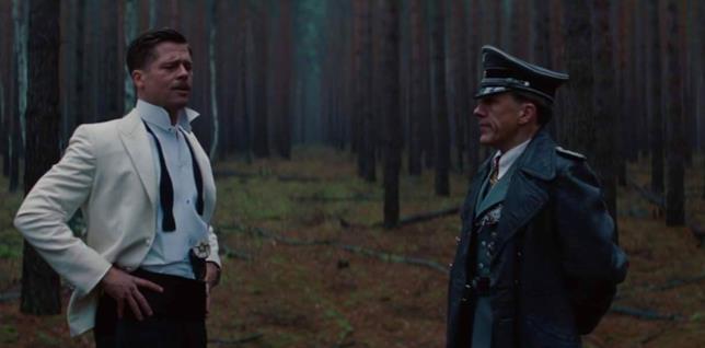 Aldo Raine e Hans Landa in Bastardi senza gloria