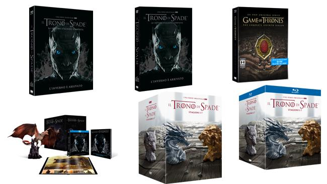 Tutti i cofanetti Home Video di Game of Thrones