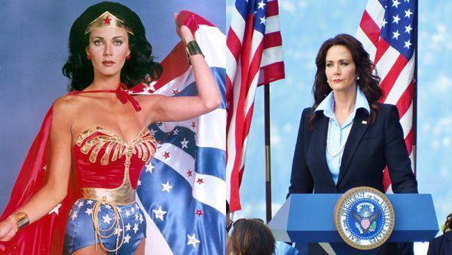 Lynda Carter nelle serie Wonder Woman e Supergirl