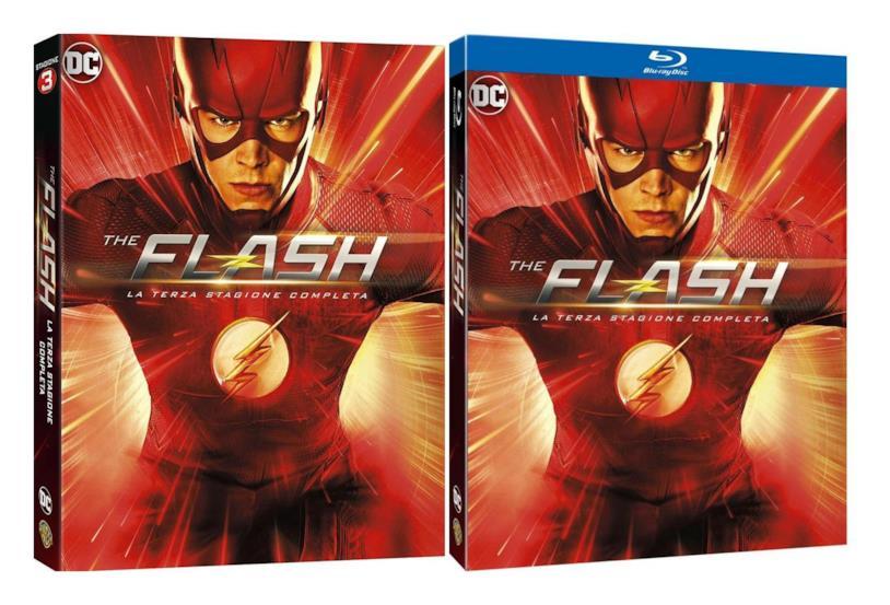 I cofanetti DVD e Blu-ray della terza stagione di The Flash