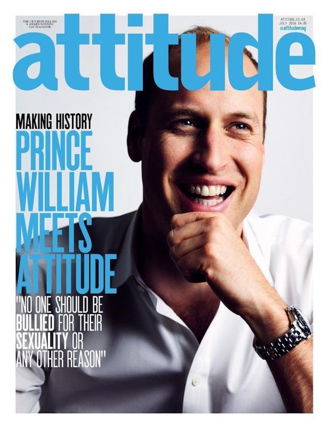 Il numero di Attitude con il Principe William in copertina