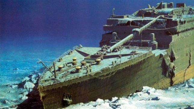 Una parte del relitto del Titanic