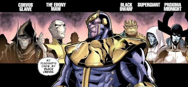 Thanos e il suo Ordine Nero