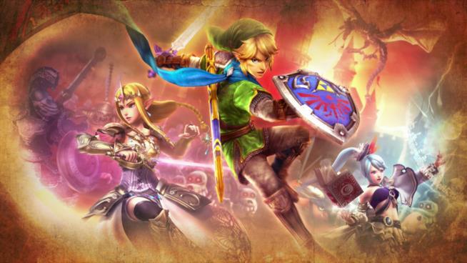 Link e Zelda in Hyrule Warriors: Definitive Edition