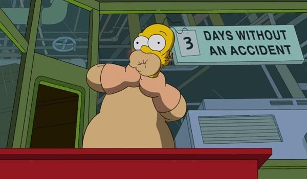 Homer Simpson auto-soffocamento