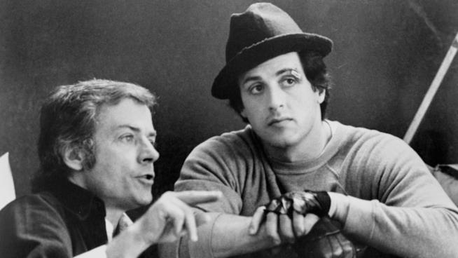 Avildsen e Stallone insieme in un'immagine tratta da Rocky