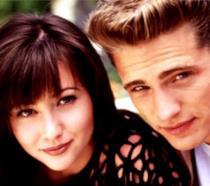 Un collage tra Jason Priestley ora e all'epoca di Beverly Hills 90210
