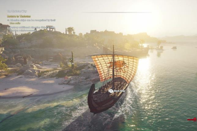 Una sequenza in nave in Assassin's Creed Odyssey