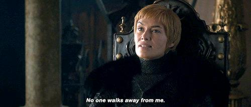 Cersei dice che nessuno la abbandona