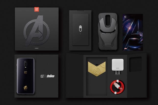 Dettagli del box e del contenuto del modello OnePlus 6 - Marvel Avengers Limited Edition